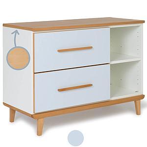 Mueble pequeño 2 cajones NADO sky blue
