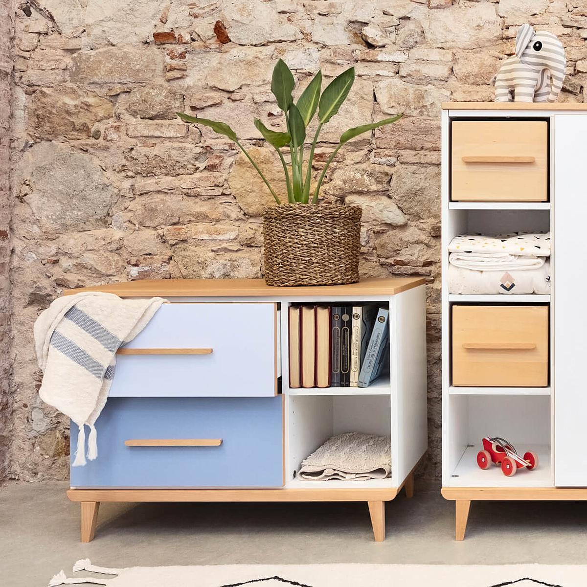 Mueble pequeño 2 cajones NADO slate grey