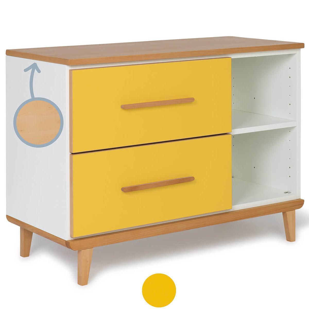 Mueble pequeño 2 cajones NADO sunshine yellow