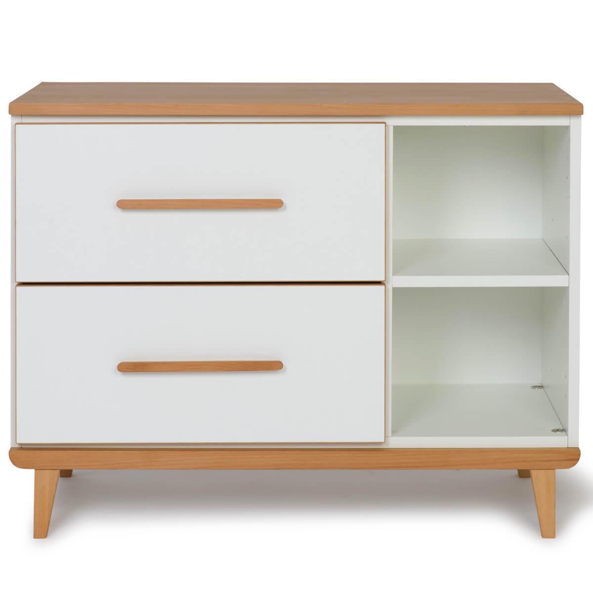 Mueble pequeño 2 cajones NADO white