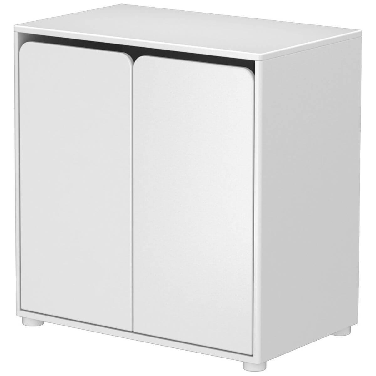 Mueble pequeño 2 puertas CABBY Flexa blanco