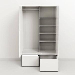 Mueble pequeño alto 2 puertas CABBY Flexa blanco