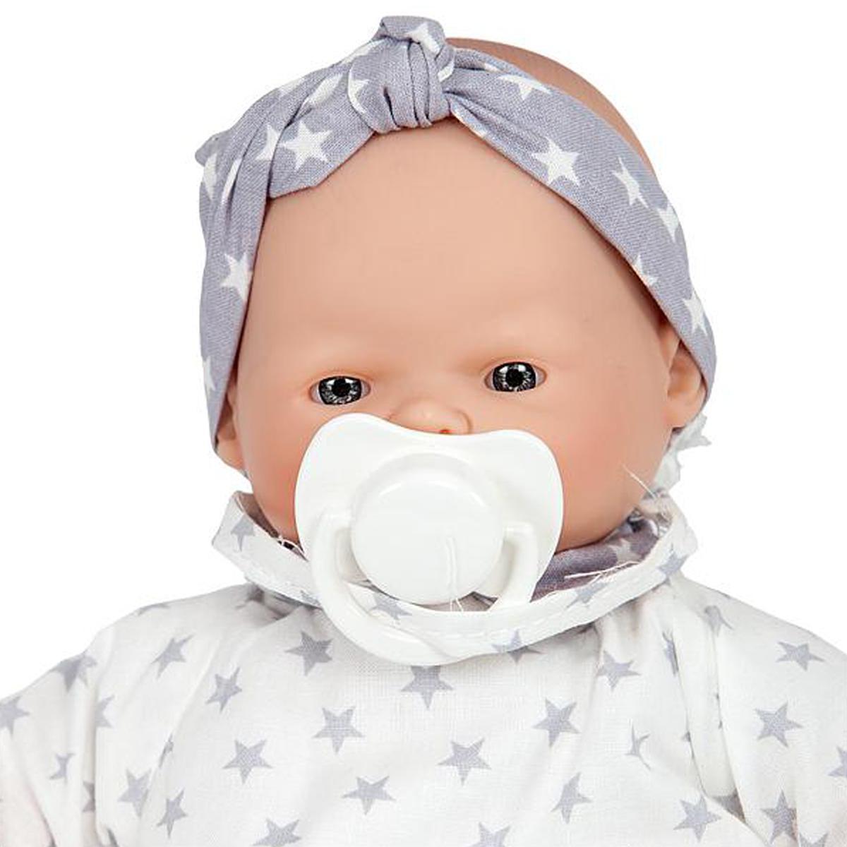 Muñeca bebé 26cm LITTLE BABIES STARS GRIS Barrutoys