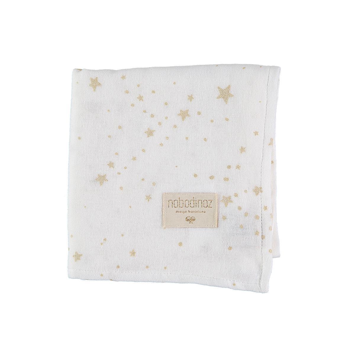 Muselina 70x70cm BABY LOVE ELEMENTS Nobodinoz gold stella-white