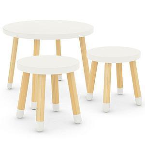 Pack PLAY mesa - 2 taburetes Flexa blanco