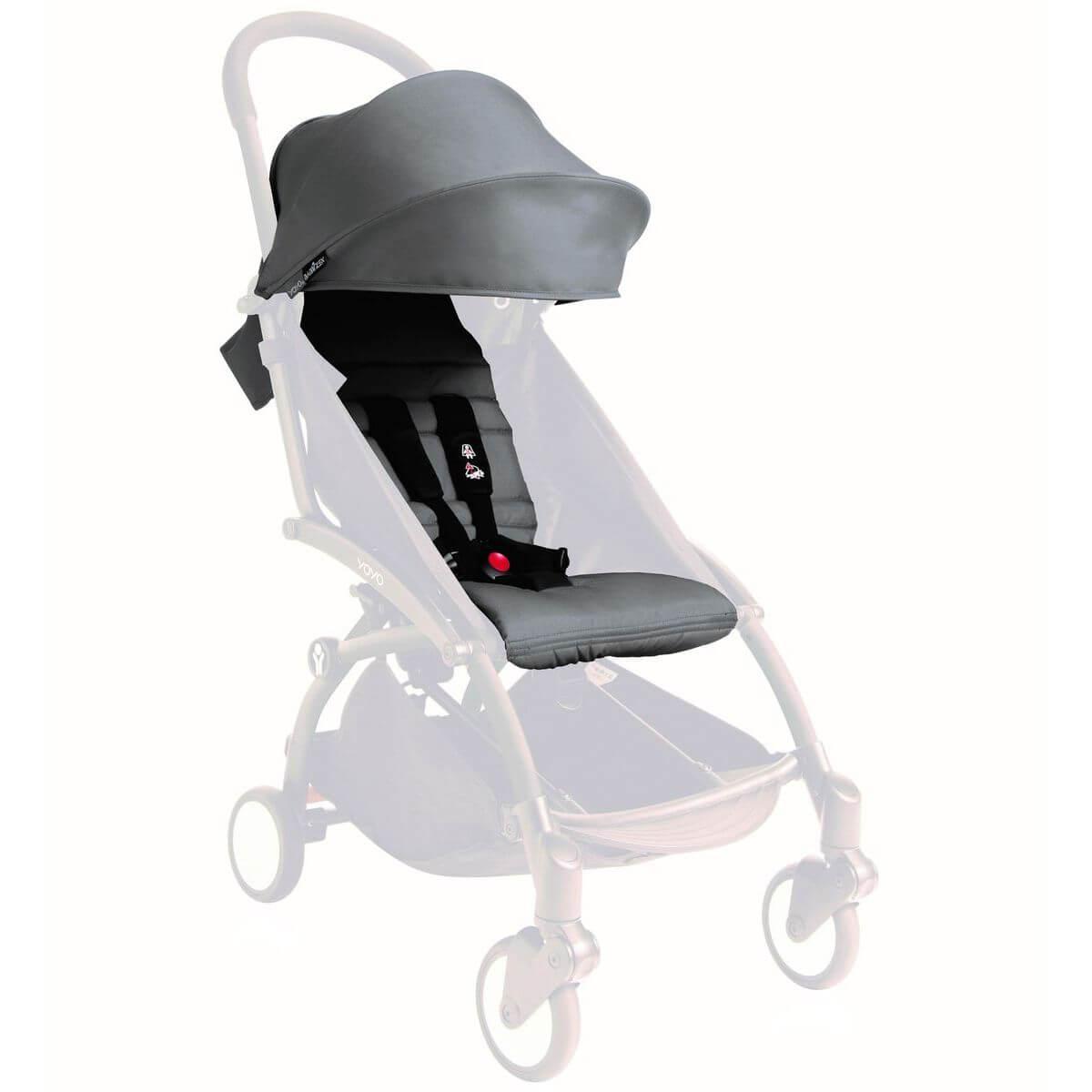 Pack silla paseo YOYO+ 6+ Babyzen gris