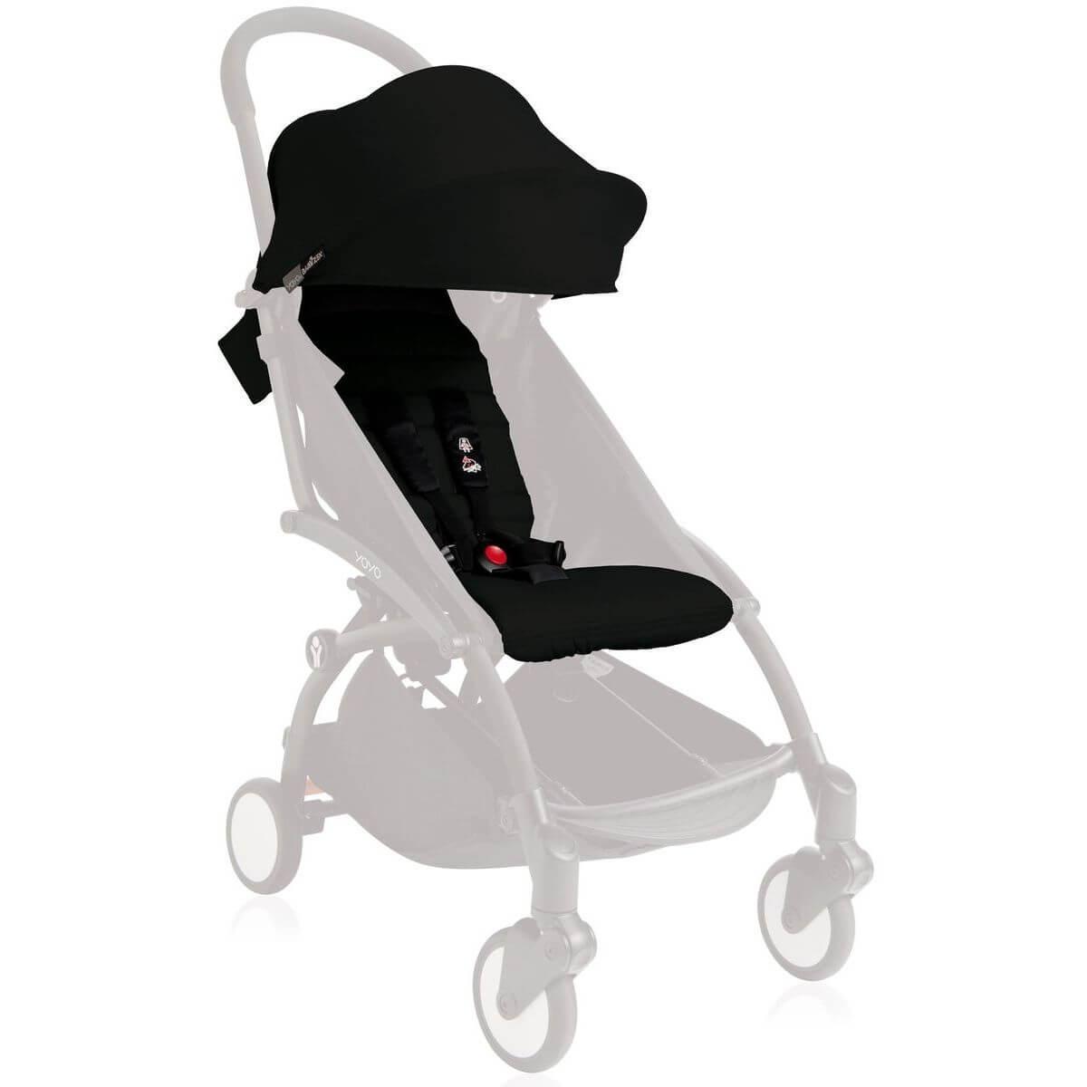 Pack silla paseo YOYO+ 6+ Babyzen negro