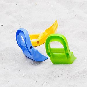 Pala excavadora playa HAPE Azul