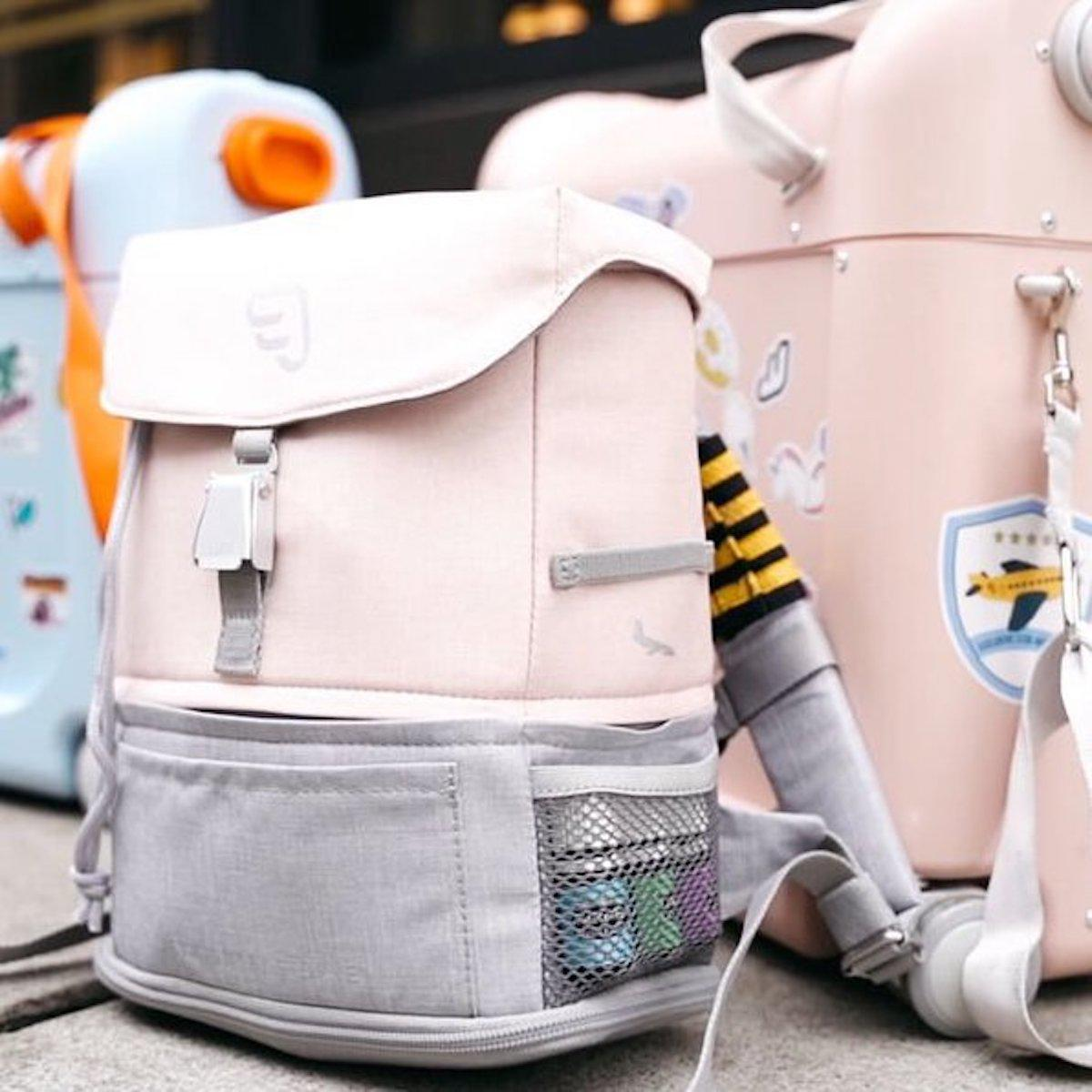 Paquete viaje BedBox-mochila expandible pink
