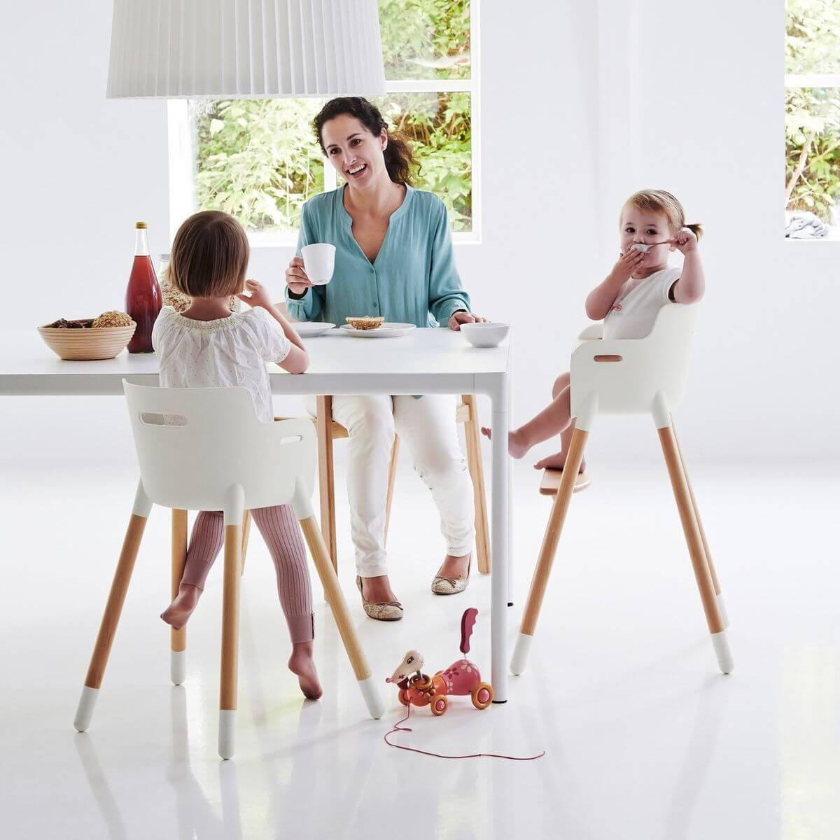 Patas convertir Trona bebé en Silla infantil Flexa blancas