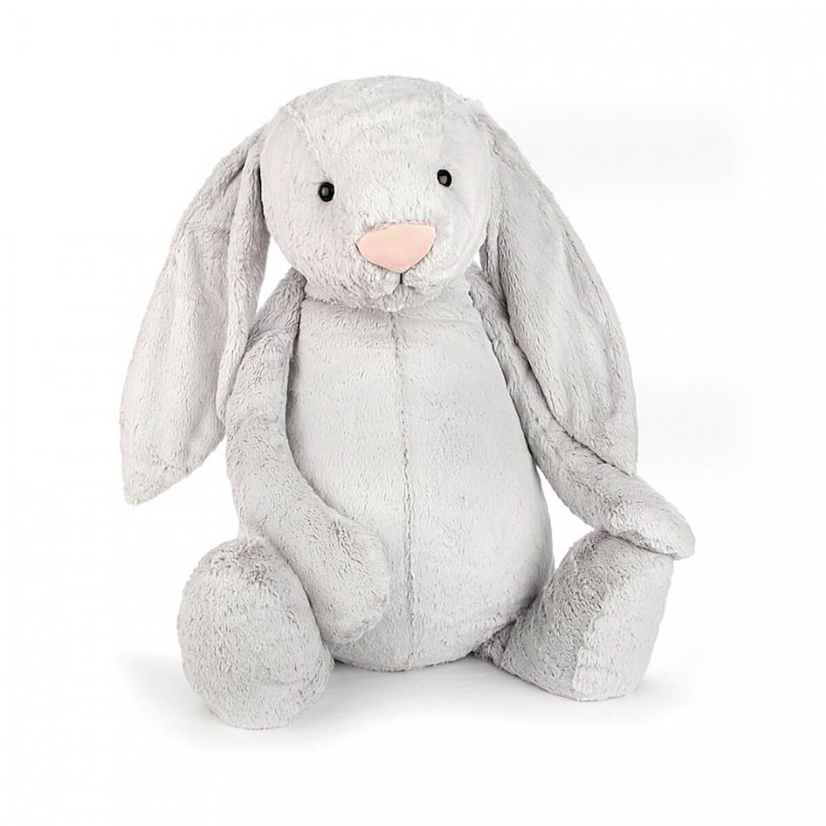 Peluche conejo 108cm BASHFUL Jellycat gris
