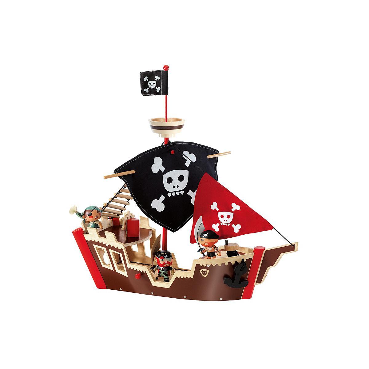Piratas barco +4Y ARTY TOYS ZE PIRAT BOAT Djeco