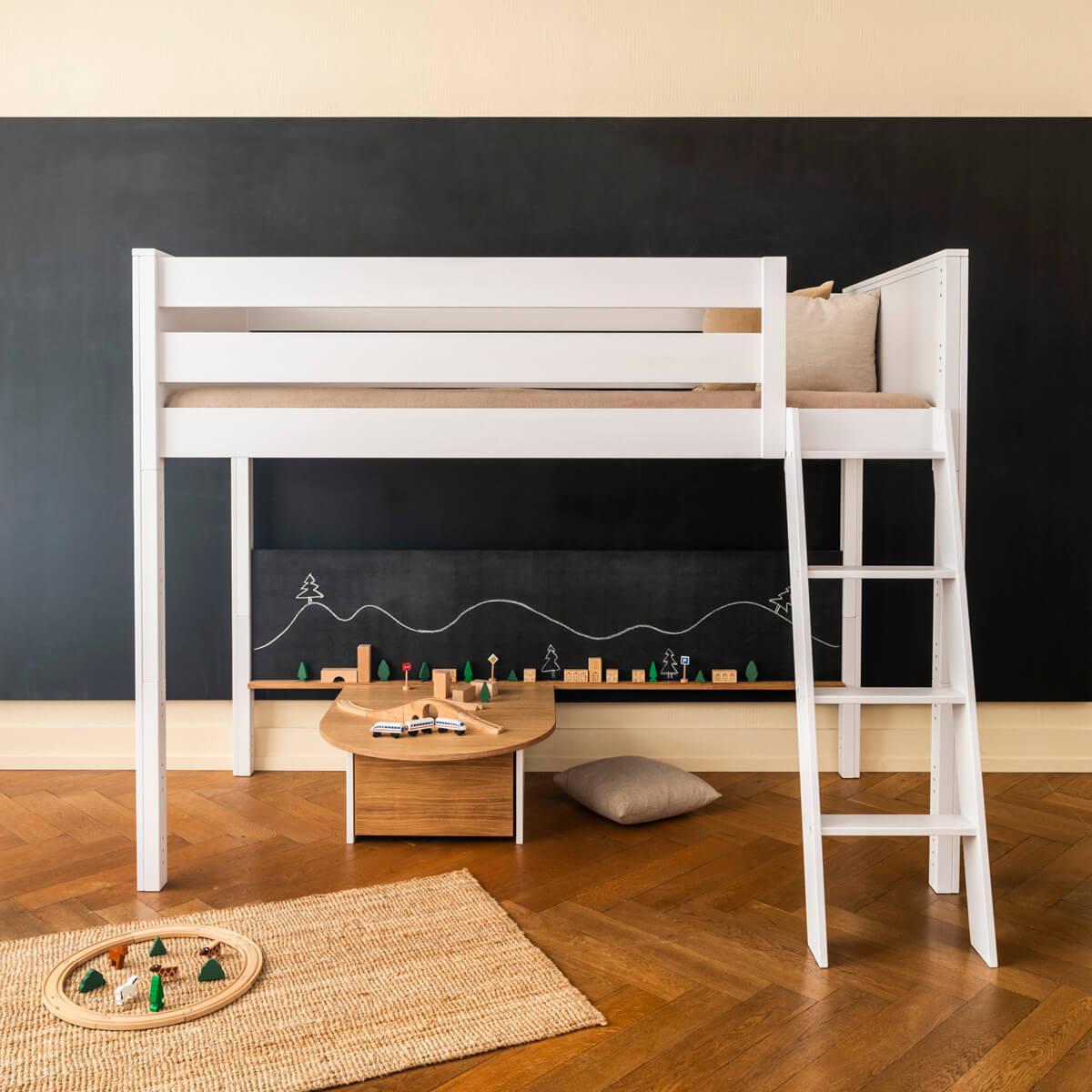 Pizarra grande cama KASVA MDF negro