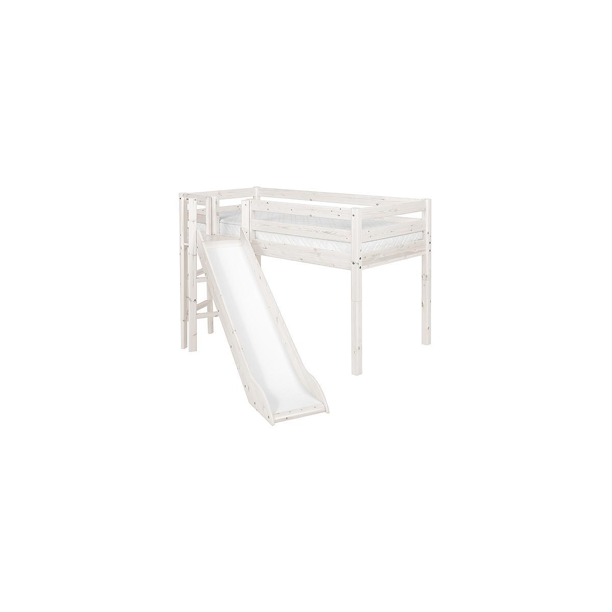 Plataforma y patas Cama media alta CLASSIC Flexa blanco cal