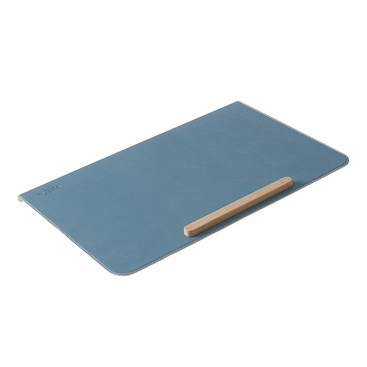 Protector escritorio EVO-MOBY-WOODY Flexa azul