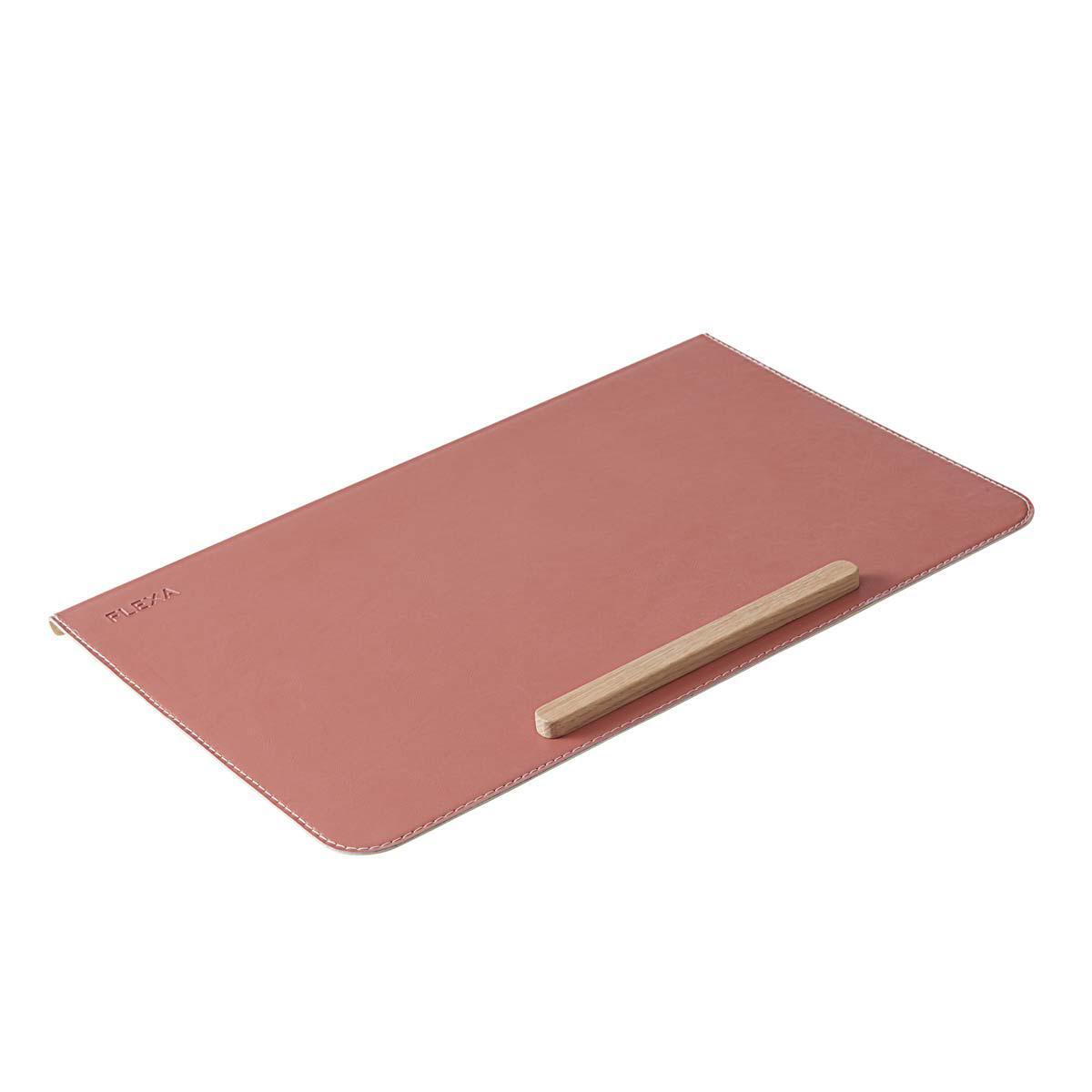 Protector escritorio EVO-MOBY-WOODY Flexa rosa