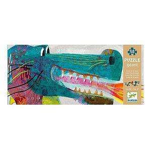 Puzzle gigante 58pcs +5Y EL DRAGÓN LEÓN Djeco