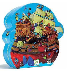 Puzzle silueta +5Y 54pcs  EL BARCO PIRATA Djeco