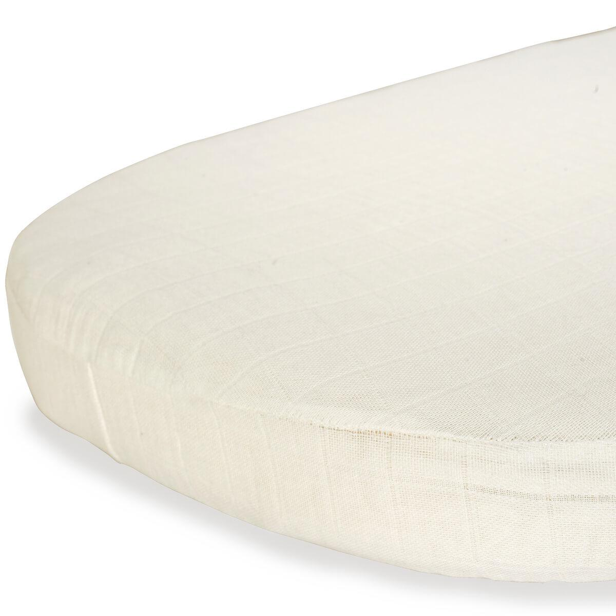 Sábana ajustable 68x40 cm KUMI Charlie Crane papuche milk