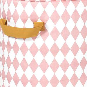 Saco juguetero pequeño BAOBAB Nobodinoz Rombos rosas