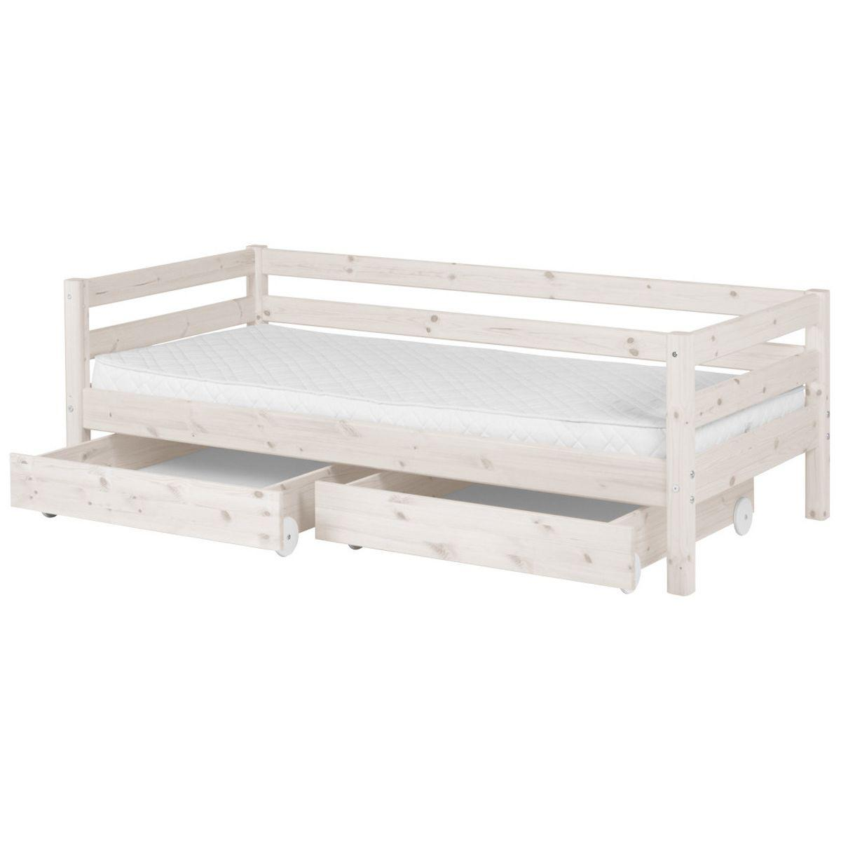 Set 2 cajones bajos Cama 190cm CLASSIC Flexa blanco cal