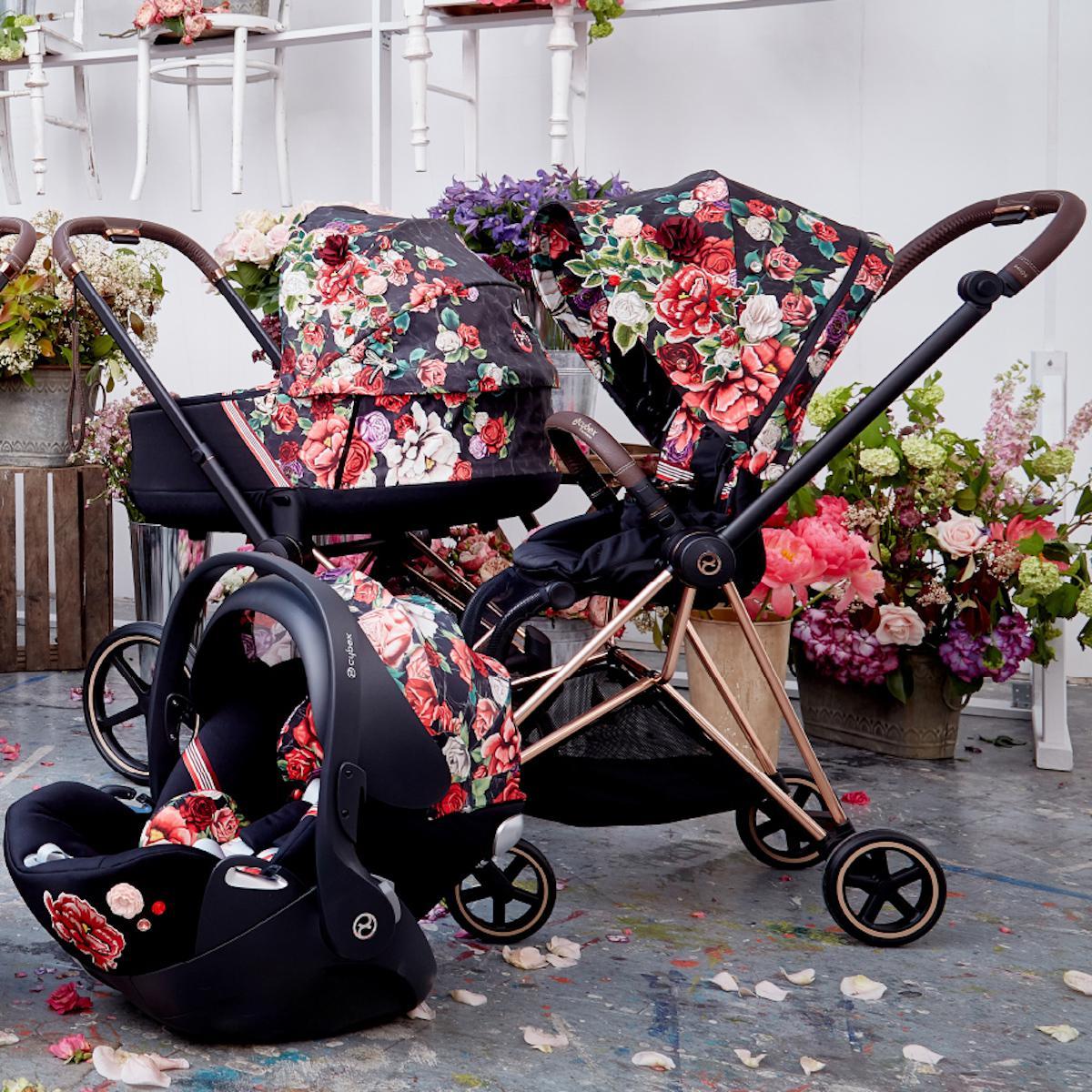 Silla auto 0+ CLOUD Z I-SIZE Cybex spring blossom dark-black