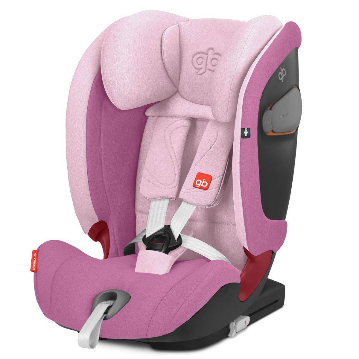 Silla auto gr1/2/3 EVERNA-FIX GB sweet pink