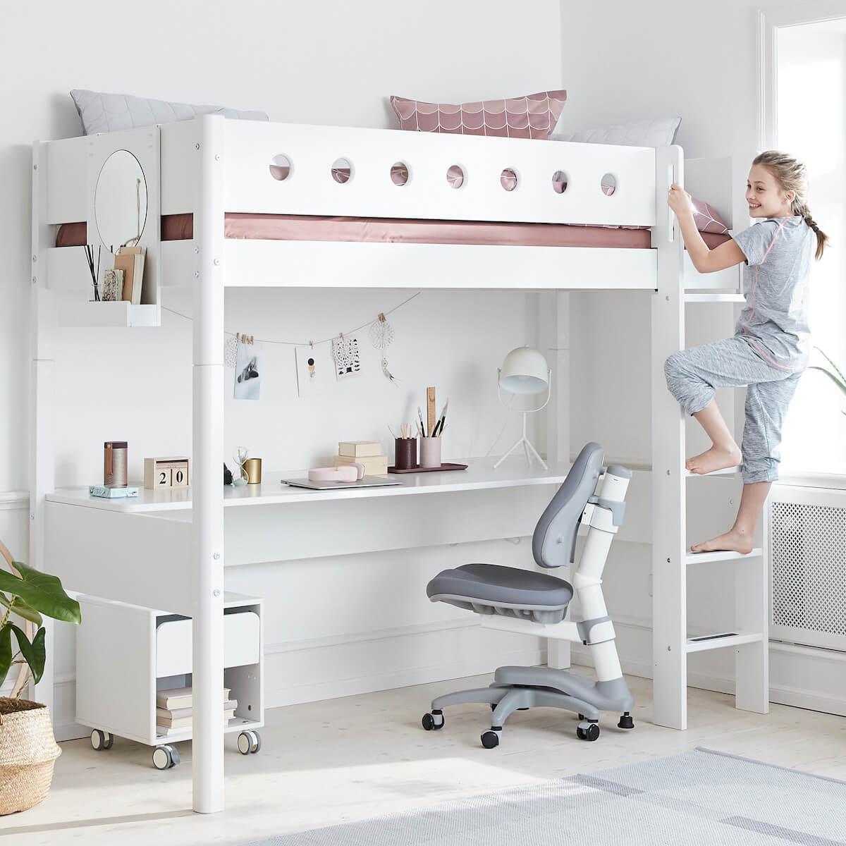 Silla de oficina infantil 7-12Y STUDY NOVO Flexa gris claro