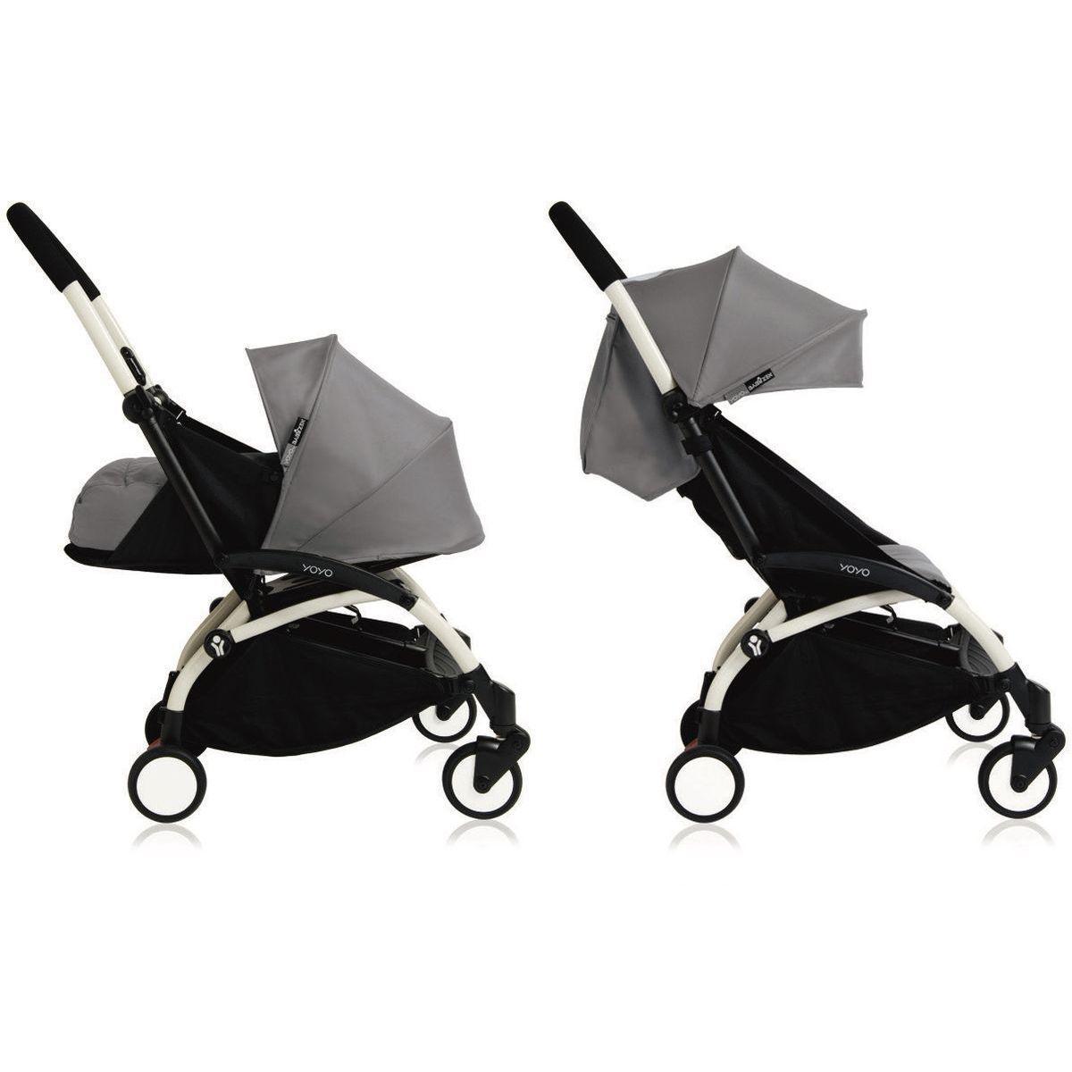Silla paseo bebé-infantil YOYO+ 0+ a 6+ Babyzen blanco-gris