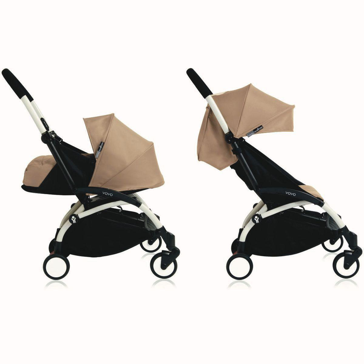 Silla paseo bebé-infantil YOYO+ 0+ a 6+ Babyzen blanco-taupe