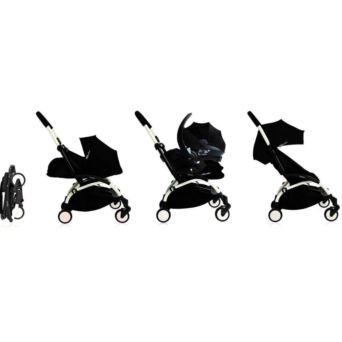 Silla paseo bebé YOYO+ 0+ Babyzen blanco-negro