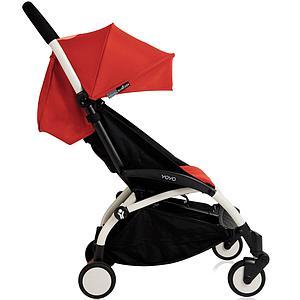 Silla paseo bebé YOYO+ 6+ Babyzen blanco-rojo