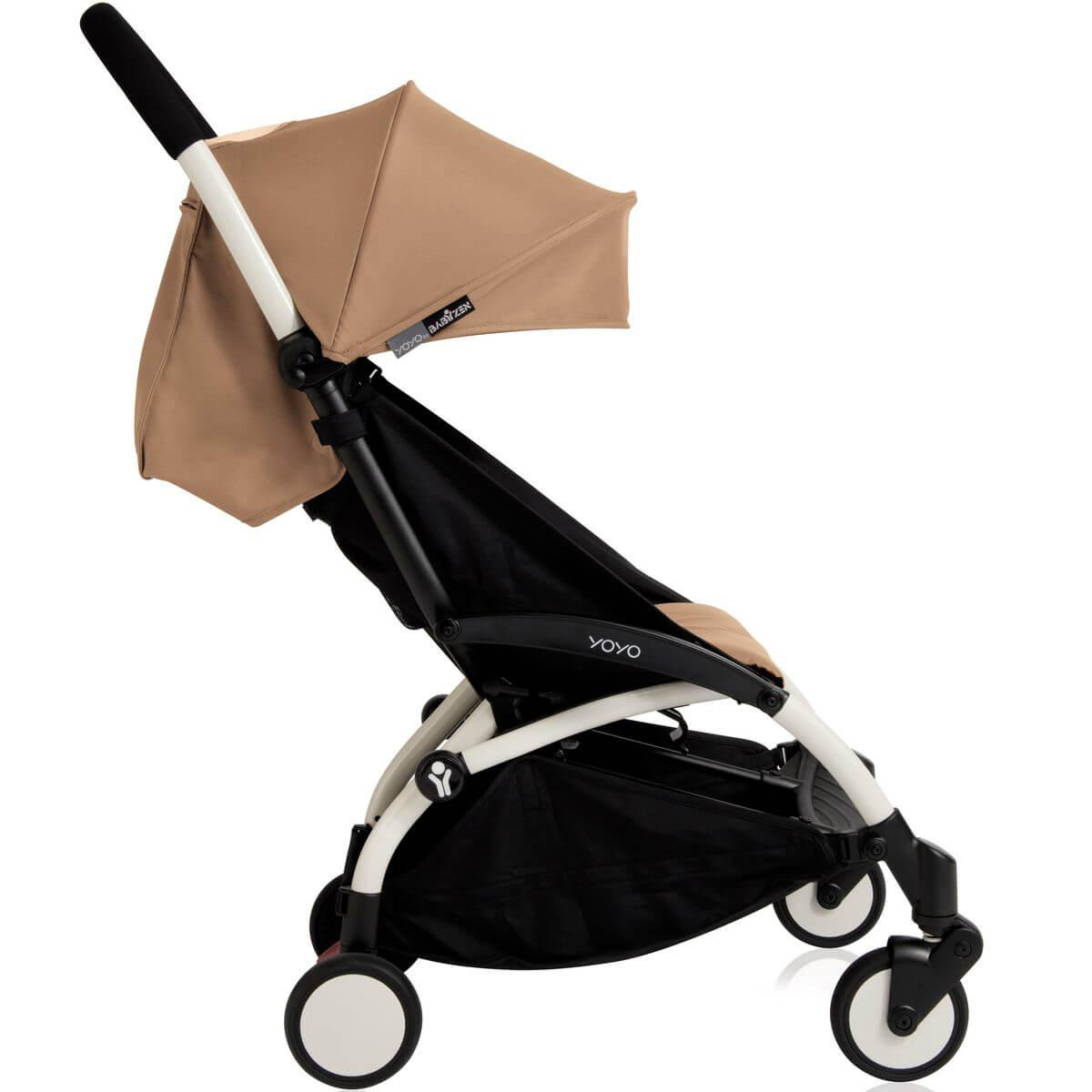 Silla paseo bebé YOYO+ 6+ Babyzen blanco-taupe