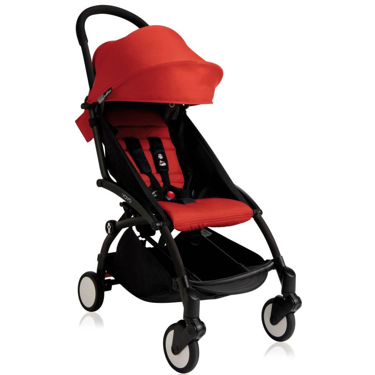 Silla paseo bebé YOYO+ 6+ Babyzen negro-rojo