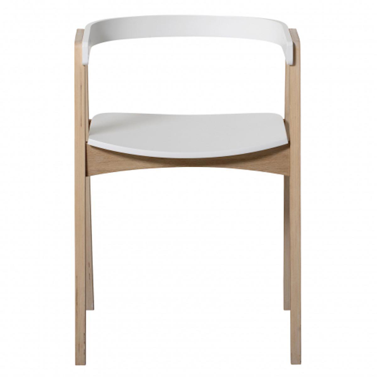 Silla WOOD Oliver Furniture blanco-roble
