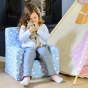 Sillón infantil ESTRELLAS Abitare kids Azul claro
