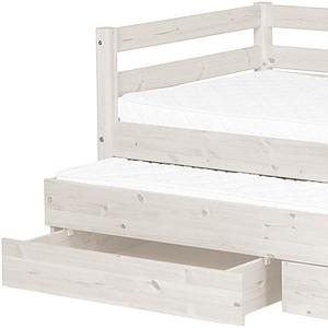 Sofá Cama arrastre 2 cajones 90x190 CLASSIC Flexa blanco cal