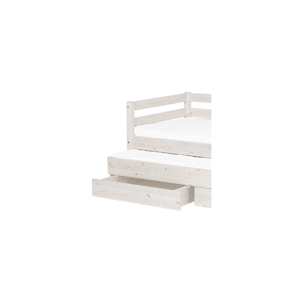 Sofá Cama arrastre 2 cajones 90x200 CLASSIC Flexa blanco cal