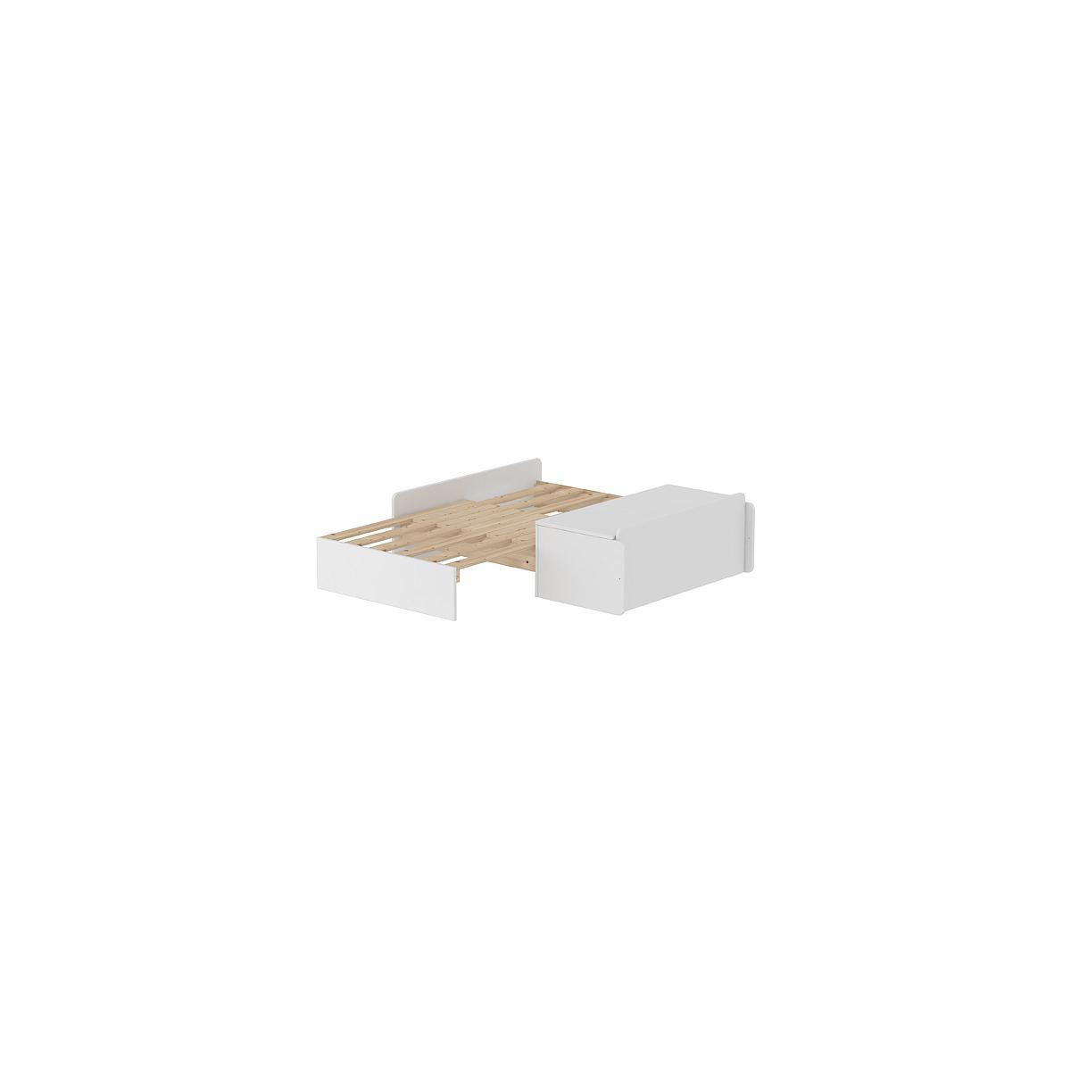 Sofá-cama Cama alta WHITE Flexa blanco