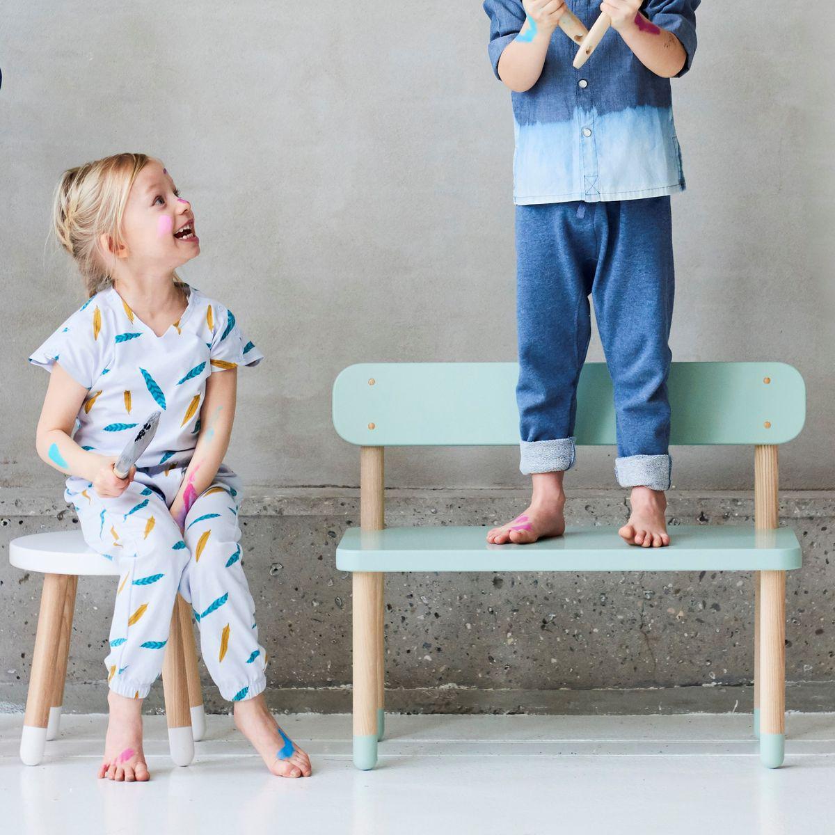 Taburete infantil PLAY Flexa blanco