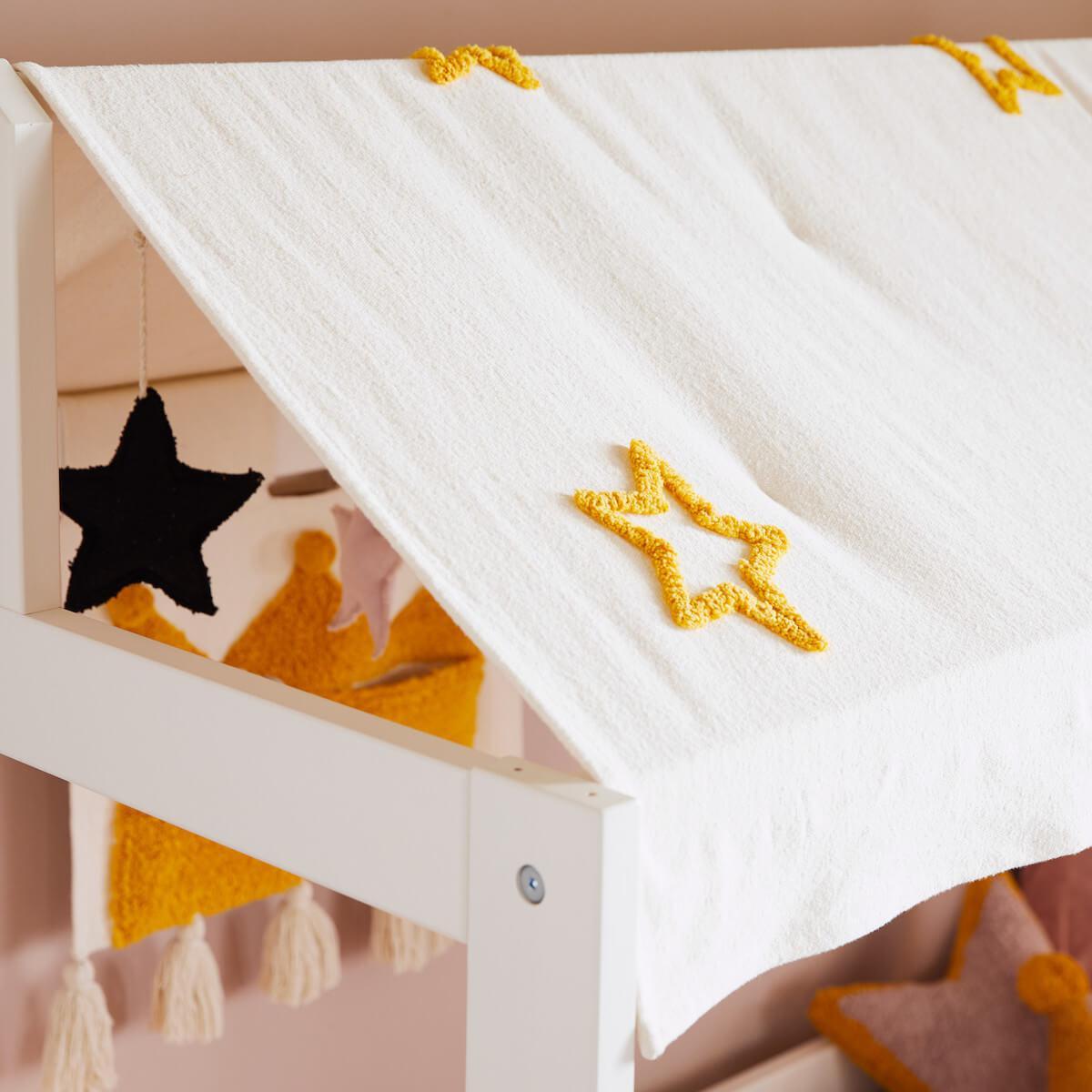 Techo textil-colgantes estrellas-coronas cama PRINCESS Lifetime Stars