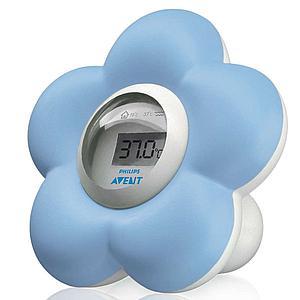 Termómetro digital agua/ambiente FLOR Avent azul