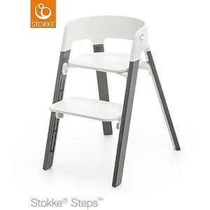 Trona bebé haya STEPS Stokke gris-blanco