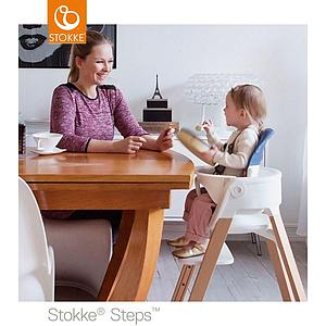 Trona bebé roble STEPS Stokke blanco-natural