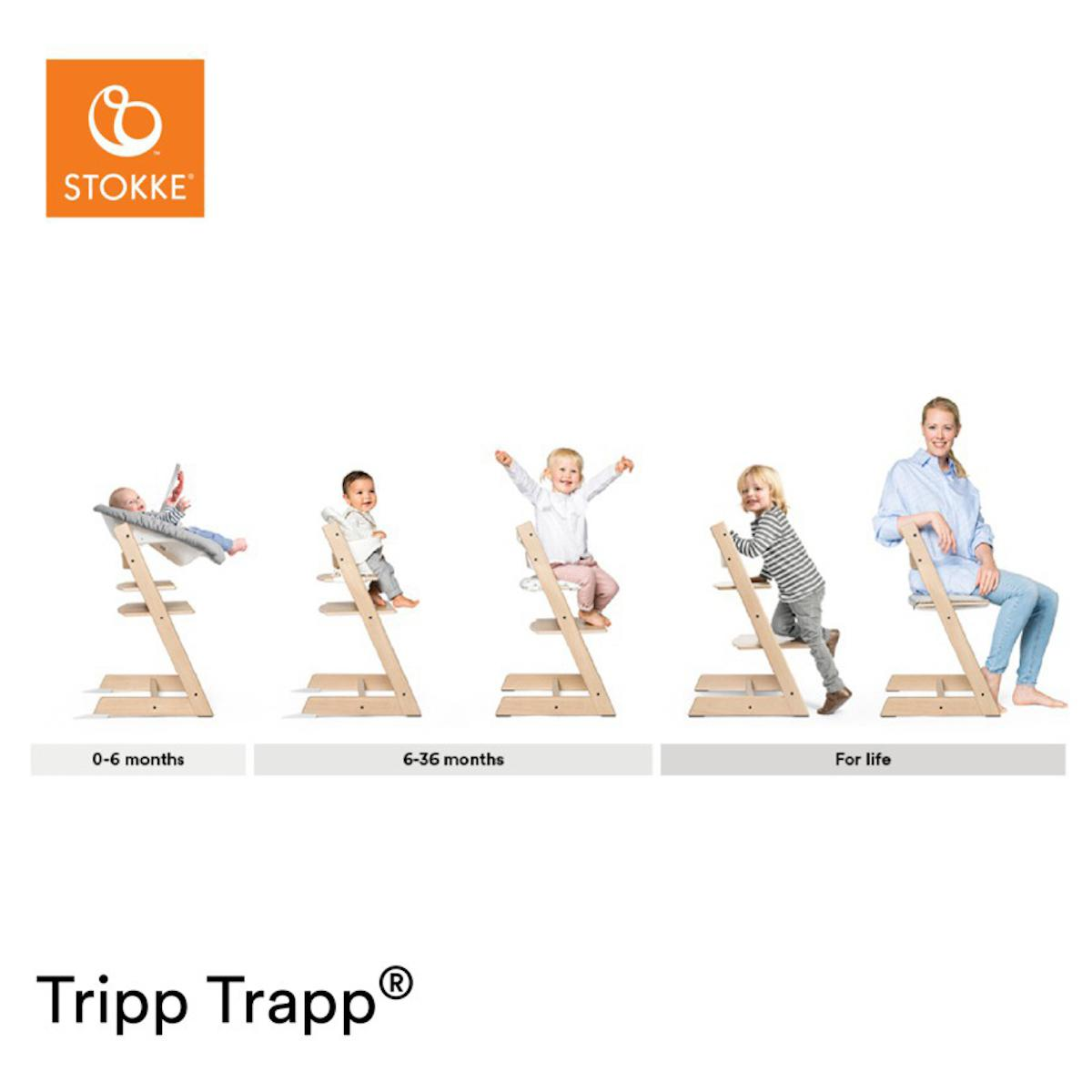 Trona bebé TRIPP TRAPP Stokke roble natural